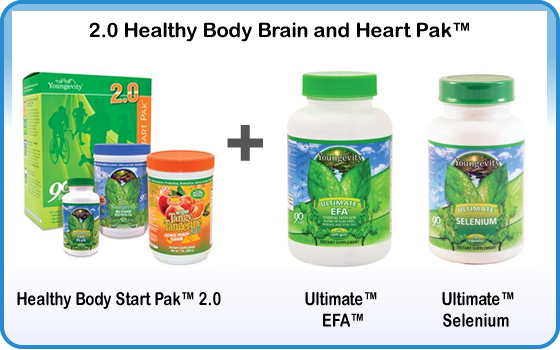 Healthy Body Brain and Heart Pak
